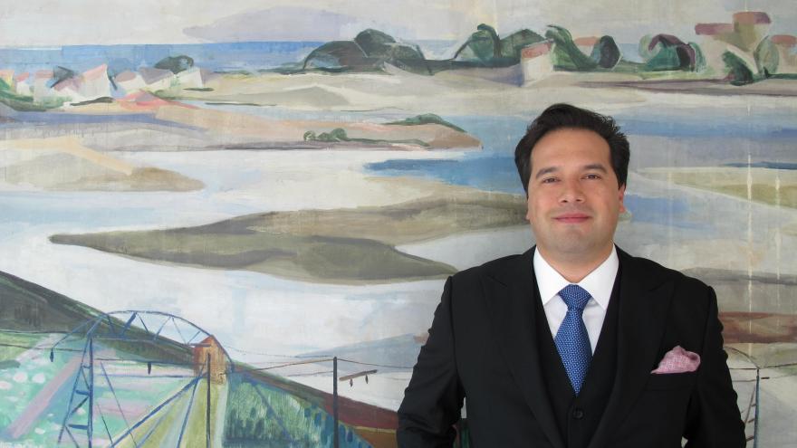 Robert Treviño Euskadiko Orkestra Sinfonikoaren Egoitzan